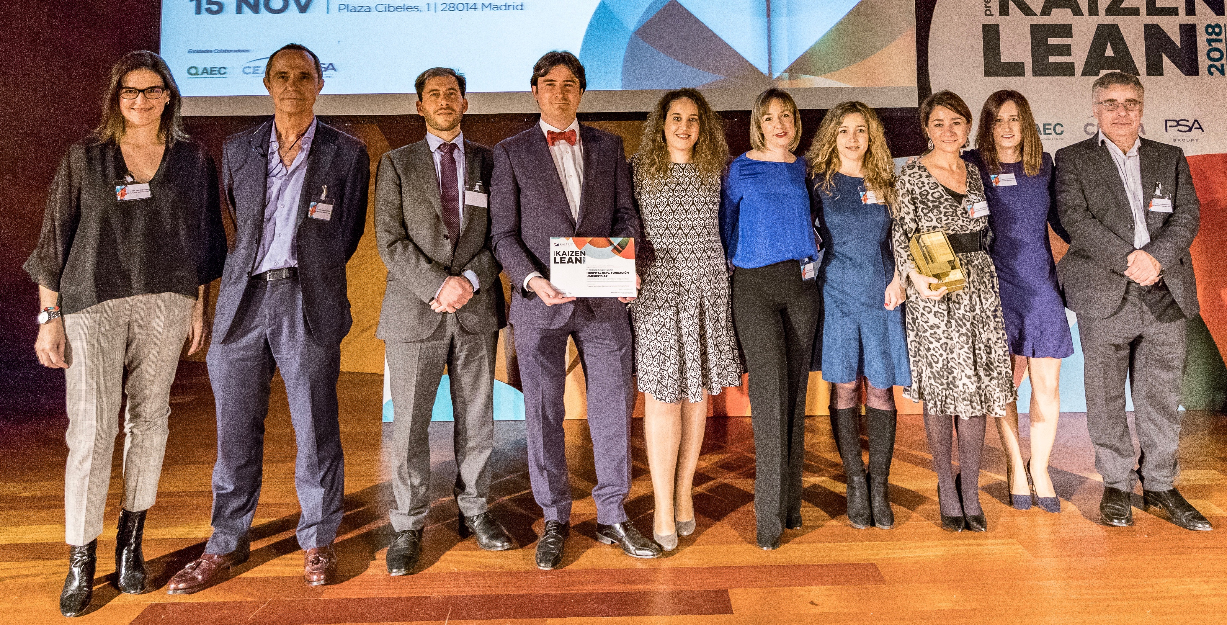 Kaizen Institute Spain awarded Hospital Universitario Fundación Jiménez Díaz with the Premio KAIZEN™ Lean España, Category: Excellence in Quality and Security